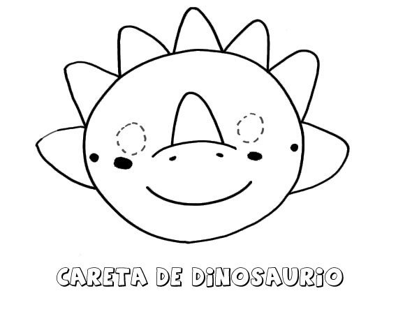 Careta De Dinosaurio  Dibujos Para Colorear Con Los Niños