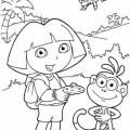 Dora La Exploradora Y Botas Para Colorear