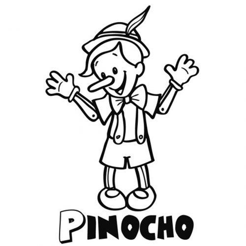 Dibujo Para Imprimir Y Pintar A Pinocho
