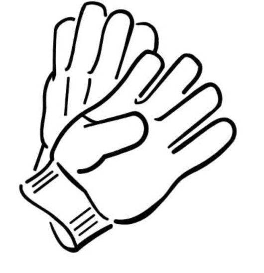 Gloves Winter Clothes Coloring Page