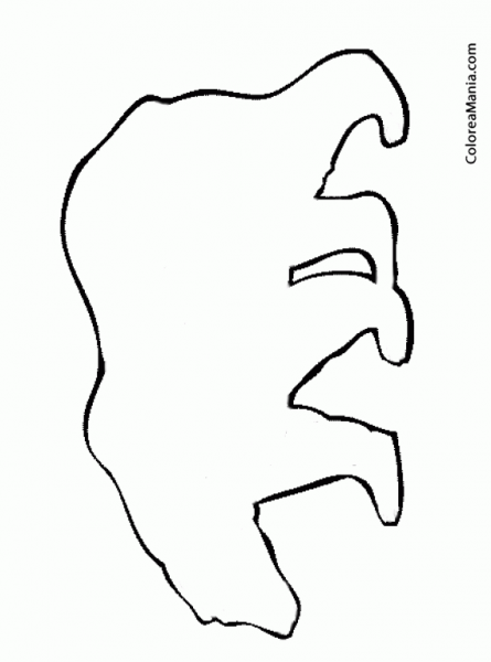 Colorear Silueta Oso Polar (animales Polares), Dibujo Para