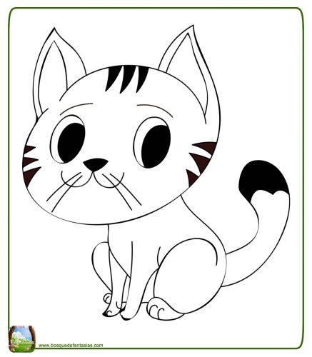 Dibujos Para Colorear De Gatitos Bebes