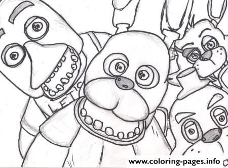 Print Family Five Nights At Freddys Fnaf 2 Coloring Pages