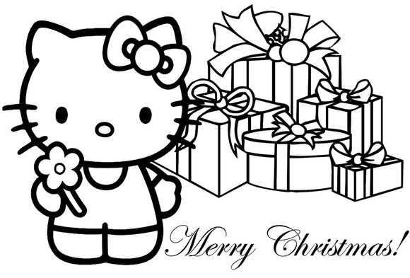 Dibujo Hello Kitty En Navidad
