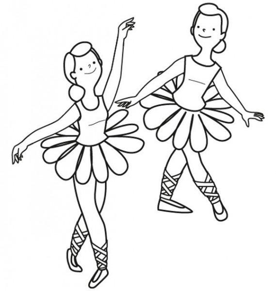 Bailarinas De Ballet  Dibujo Para Colorear E Imprimir