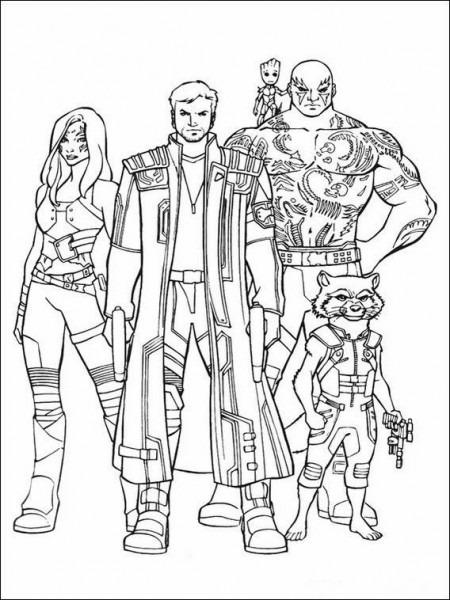 Dibujos Para Colorear Guardianes De La Galaxia 19