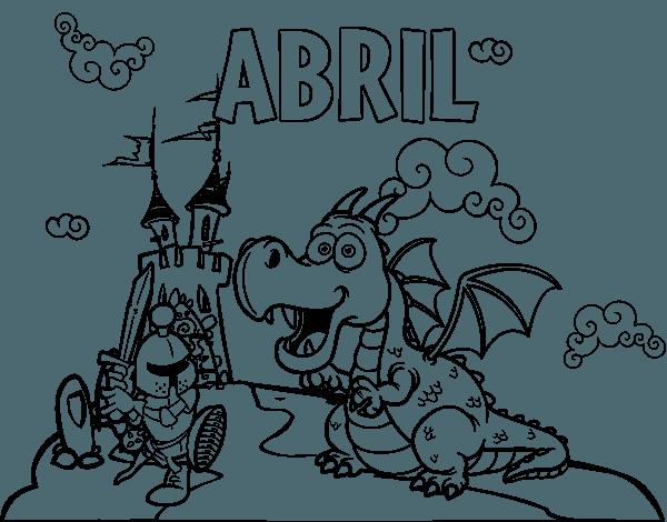 Dibujo De Abril Para Colorear