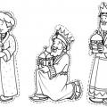 Dibujos Para Colorear De Los Reyes Magos De Oriente