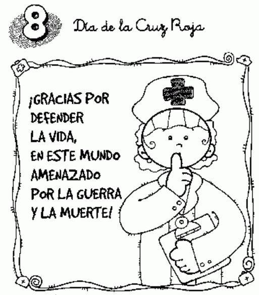 Dia De La Cruz Roja Dibujos Para Colorear