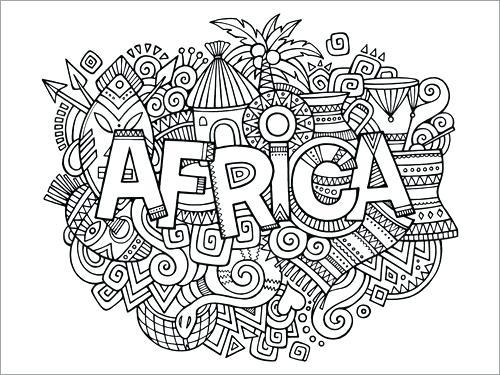 Paisajes De Africa Para Colorear