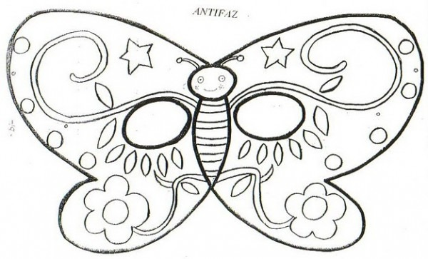 Antifaz Mariposa