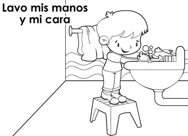 Dibujos Infantiles De Higiene Personal Para Pintar