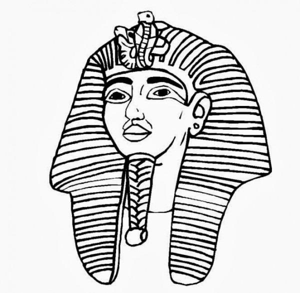Mascara De Tutankamon Para Colorear