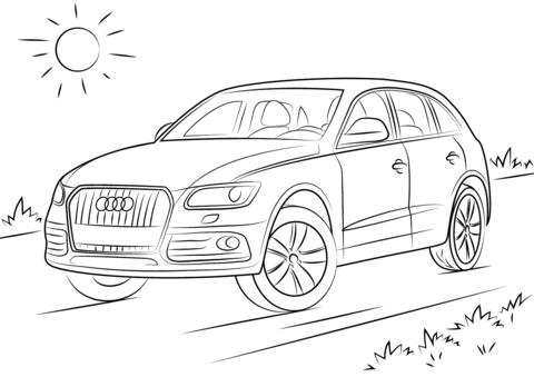 Dibujo De Audi Q5 Para Colorear