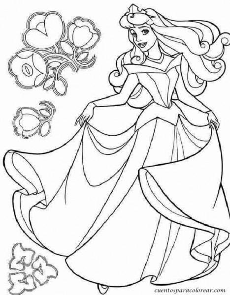 Dibujos Para Colorear Aurora