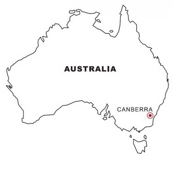 Mapa De Australia Para Colorear