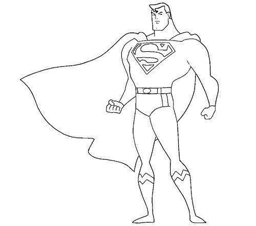 Dibujos Superman Para Colorear
