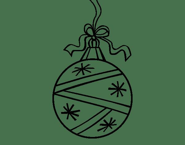 Dibujo De Una Bola De Navidad Para Colorear