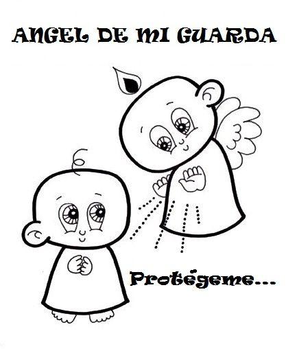 Colorea Oraciones Al Ángel De La Guarda  Escribe Una Oración En