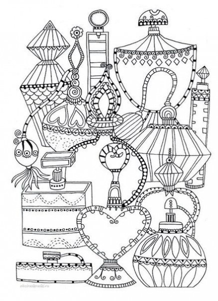 Perfume Bottles Coloring Page