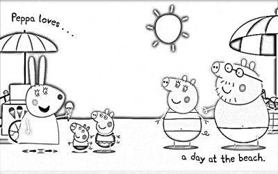 Dibujo Peppa Pig Para Colorear Y Sus Amigos