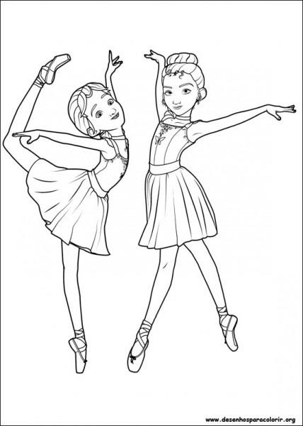 Bailarina Para Colorir E Imprimir