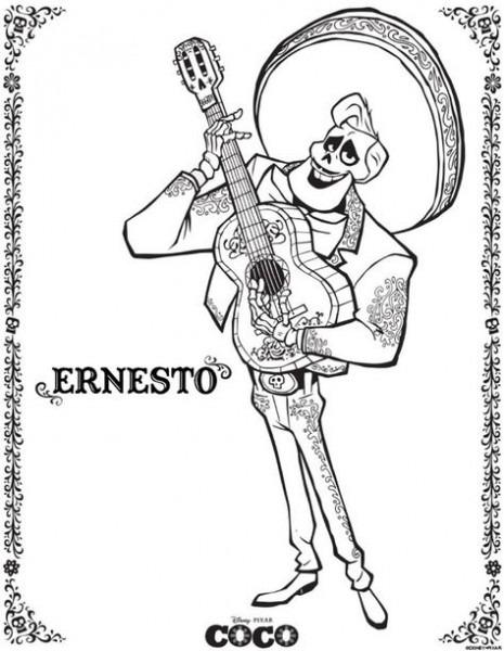 Dibujo De Ernesto De La Cruz Coco Plantilla Para Dibujar Y