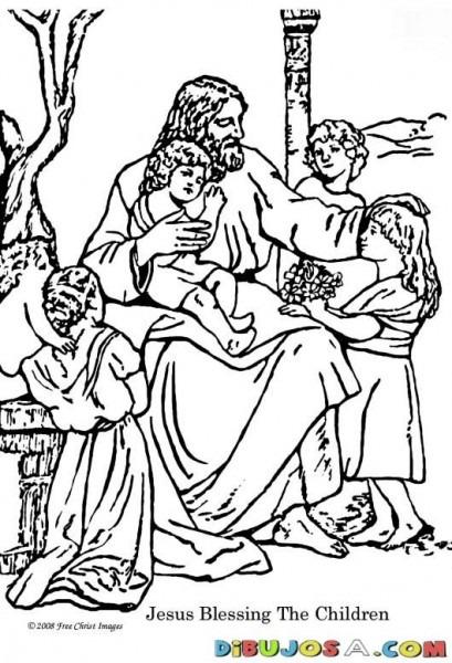Pintar Dibujo De Jesus Con Los Ninos