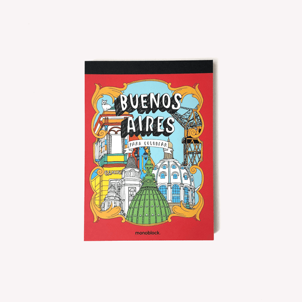 Buenos Aires Para Colorear, 18 Postales En Hermoso Libro Para Pintar