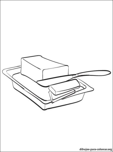 Dibujo De Mantequilla O Manteca Para Imprimir