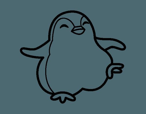 Dibujo De Pingüino Bailando Para Colorear