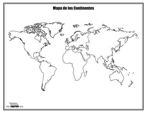 Mapa De Los Continentes Sin Nombres Para Colorear Y Para Imprimir