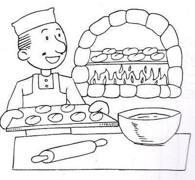 Panadero Para Colorear