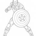 Dibujos Colorear Vengadores