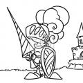 Dibujos Para Colorear De Castillos Y Caballeros