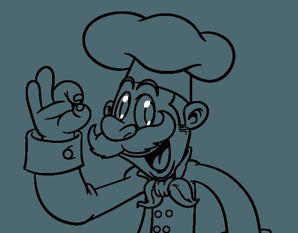 Dibujo De Chef Para Colorear
