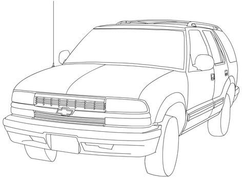 Dibujo De Chevrolet Blazer Para Colorear