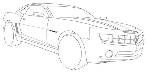 Dibujo De Chevrolet Camaro Para Colorear