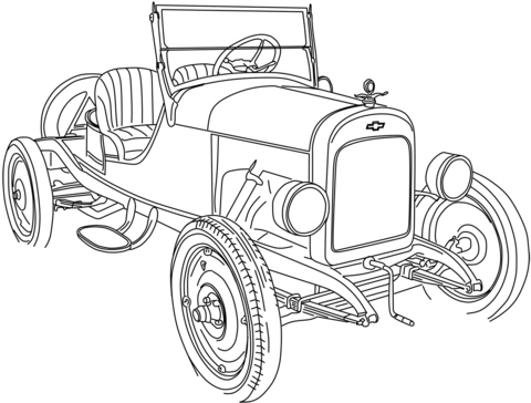 Dibujo De Chevrolet Series 490 Roadster Para Colorear