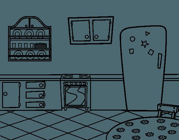 Dibujo De Cocina Office Para Colorear