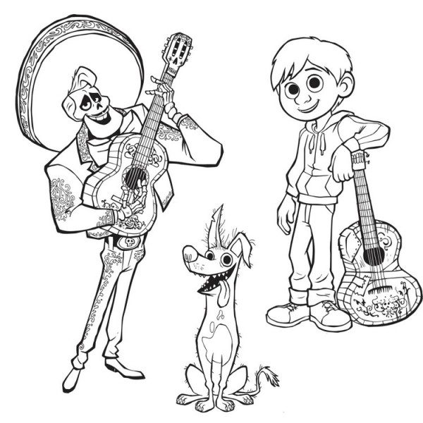 Personajes De Coco Para Colorear