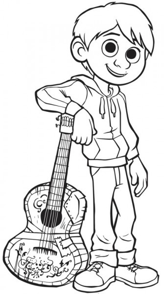 Dibujo Para Colorear Coco   Miguel 7