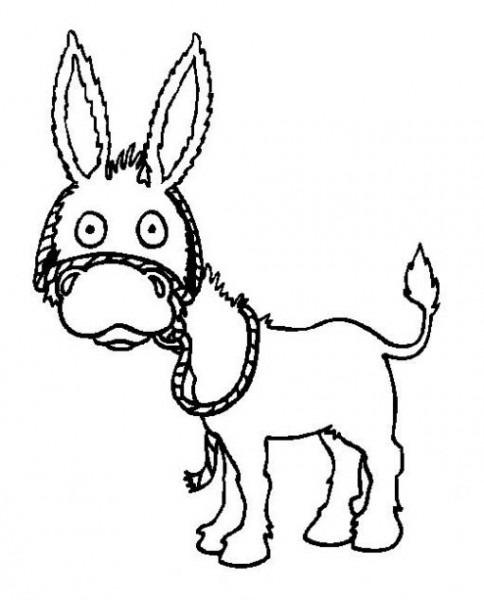 Dibujo De Burro Para Colorear  Dibujos Infantiles De Burro