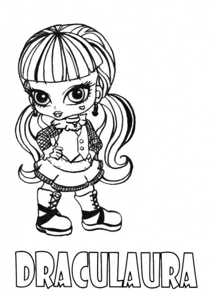 Dibujos Para Colorear De Monster High  Draculaura Baby