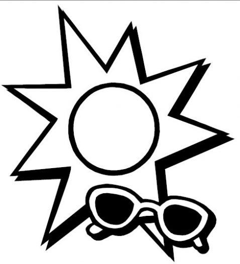 Dibujo De Gafas De Sol Y Sol Para Colorear  Dibujos Infantiles De