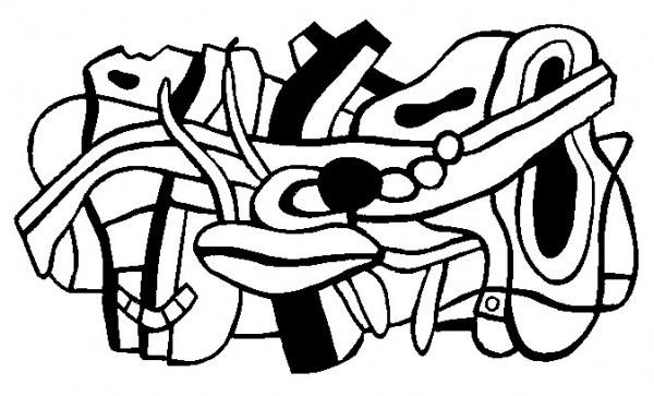 Dibujo Para Colorear Relajante Fernand Leger   Proyecto Para Una