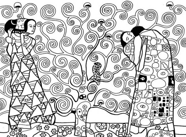 Dibujos Para Colorear Antiestrés Gustav Klimt