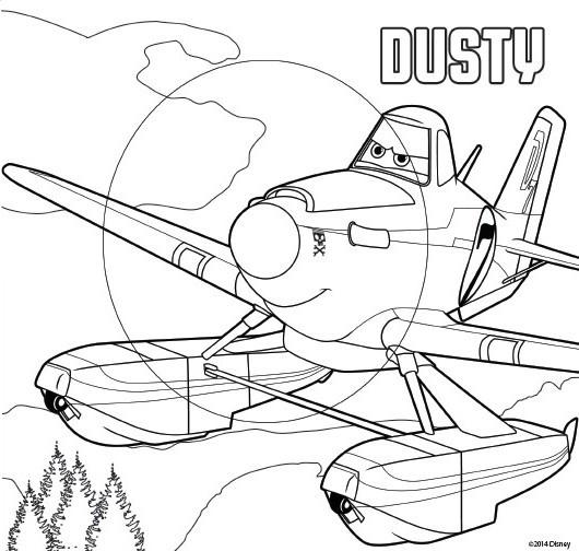 Dibujo Para Colorear Aviones 2 Equipo De Rescate   Dusty 1