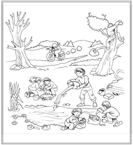 Dibujo Para Dibujar De La Contaminacion Del Suelo