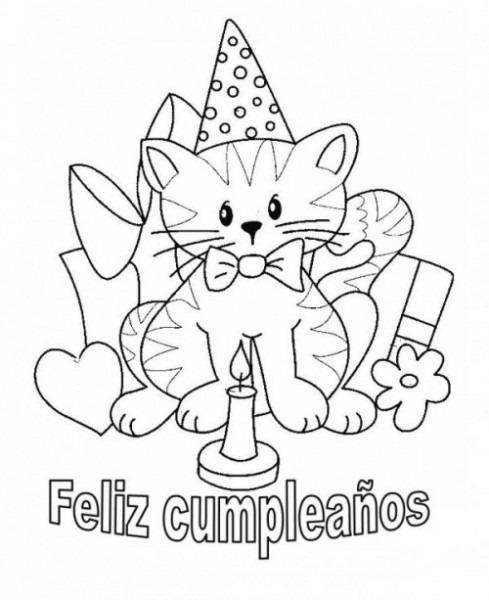 Felíz Cumpleaños – Dibujos Para Descargar, Imprimir Y Colorear